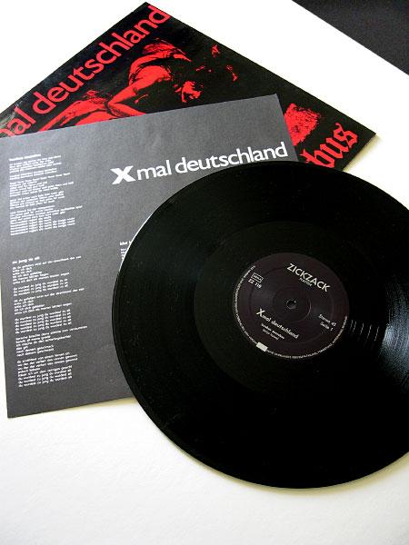 Xmal Deutschland 'Incubus Succubus' original 12″ lyric insert, label design