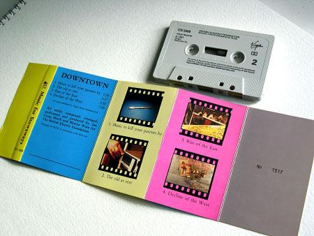 BEF 'Music for Stowaways' UK cassette insert (back)