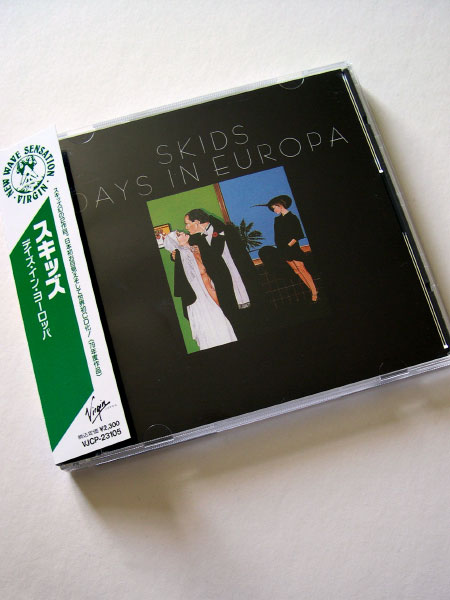 Skids: 'Days In Europa' Japanese promo CD front cover design and OBI