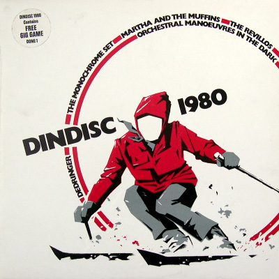 'Dindisc 1980' compilation album, front cover
