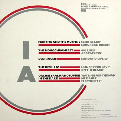 'Dindisc 1980' compilation album, back cover
