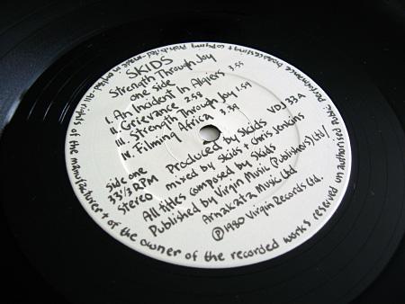 'Strength Through Joy' label design, A side