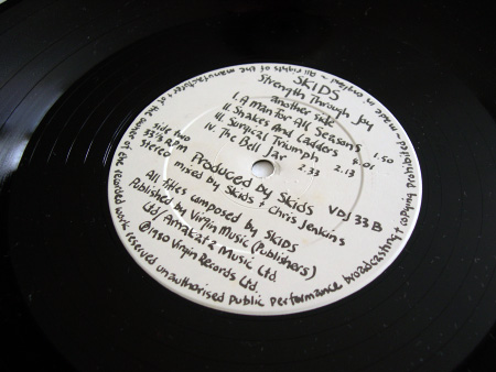 'Strength Through Joy' label design, B side
