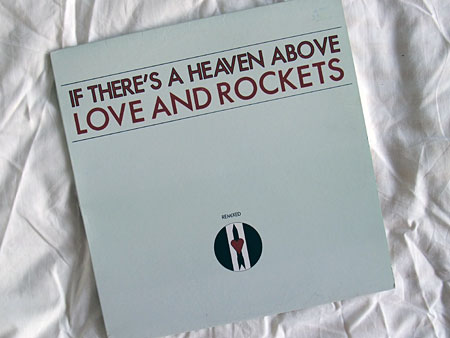 "'If There's A Heaven Above' Canadian 12"" remix single sleeve - front"