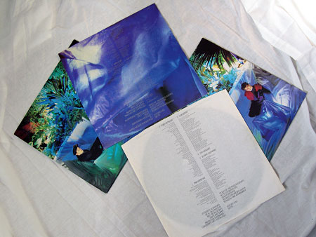 ^ Side by side: Outer and inner sleeves of the original UK (left-hand side) and later European issues of 'Sulk' (right-hand side) on vinyl