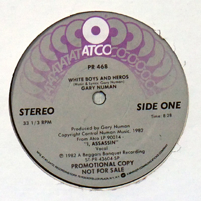 Side One label close-up