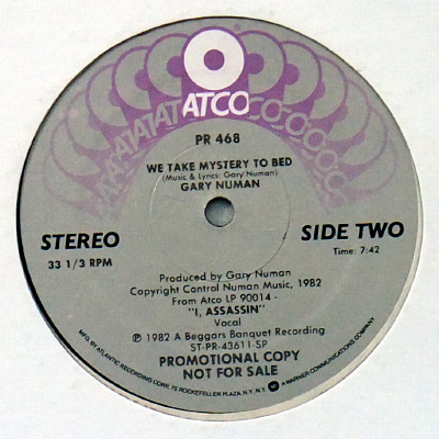 Side Two label close-up