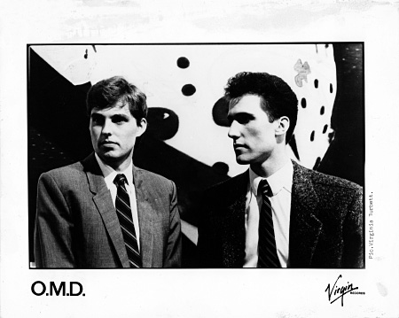 Orchestral Manoeuvres in the Dark - Dazzle Ships era promo photo