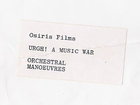 Orchestral Manoeuvres in the Dark - Urgh! A Music War promo photo (rear)