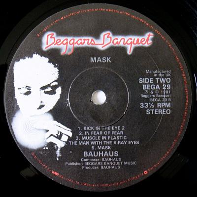 Mask 1981 UK LP - original label design, side 2
