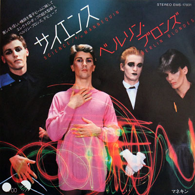 Berlin Blondes 'Science' Japanese single picture insert - front