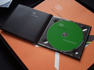 The DVD, opened up