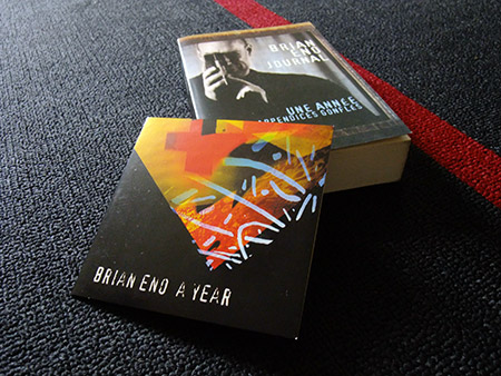 Brian Eno 'A Year...' French edition book and CD (fronts)