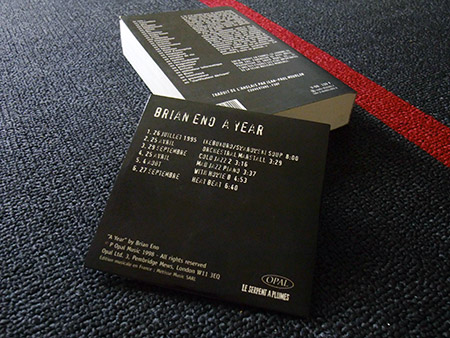 Brian Eno 'A Year...' French edition book and CD (backs)
