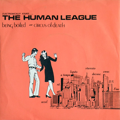 The Human League 'Being Boiled' Fast Product release sleeve design