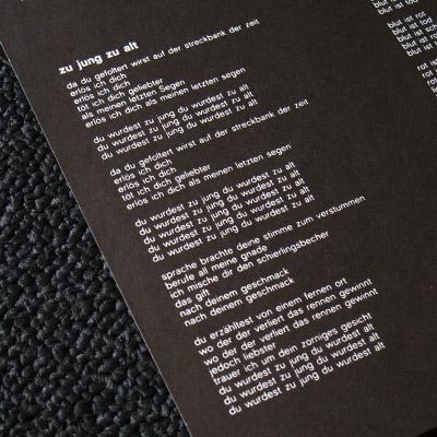 Lyric sheet [Detail]