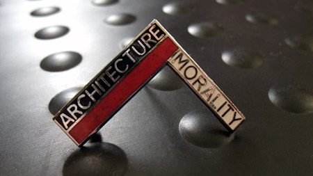 OMitD Architecture and Morality enamel badge