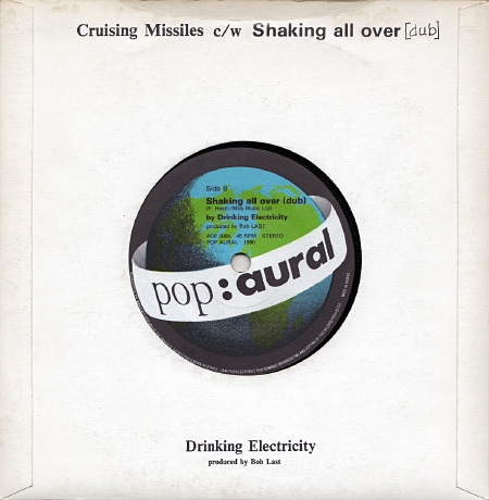 Drinking Electricity 'Cruising Missiles' pictures sleeve design - rear