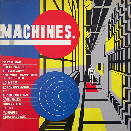 'Machines' compilation album front cover design