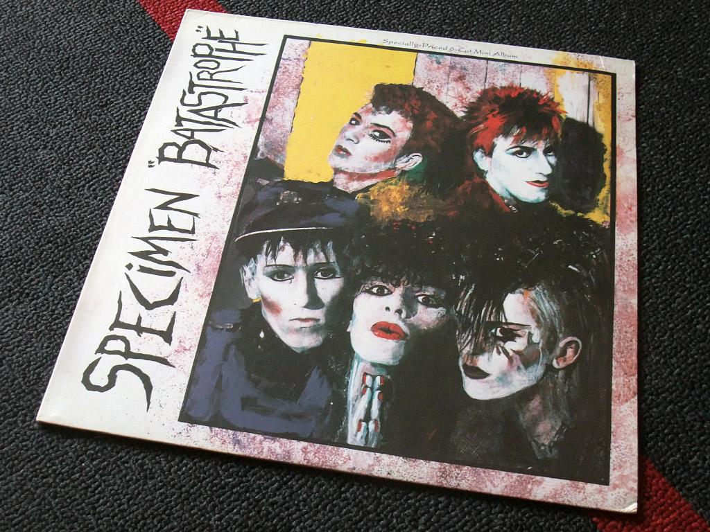 Specimen 'Batastrophe' US Mini-Album front cover design
