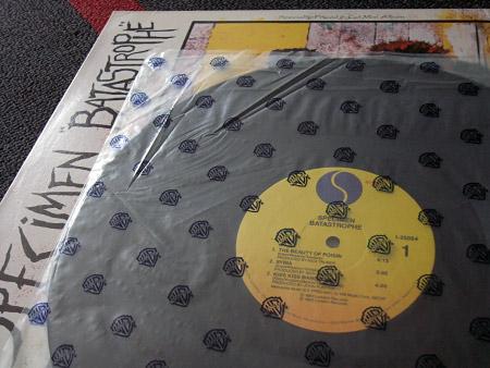 Specimen 'Batastrophe' label design side 1