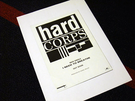 Hard Corps 'I Need To Breathe' Cure 1985 tour merchandising leaflet advert