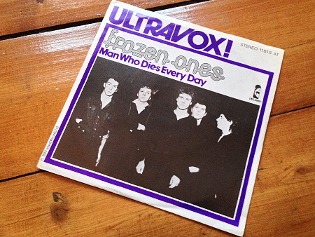 Ultravox! 'Frozen Ones' West German 7 inch single front sleeve design