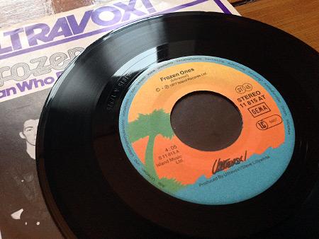 Ultravox! Frozen Ones West German 7 inch single - label side A