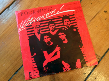 Ultravox 'ROckwrok' West German 7 inch single front sleeve design