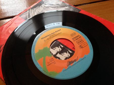 Ultravox 'ROckwrok' West German 7 inch single side B label design