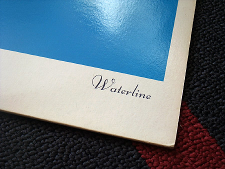 Waterline - front cover detail