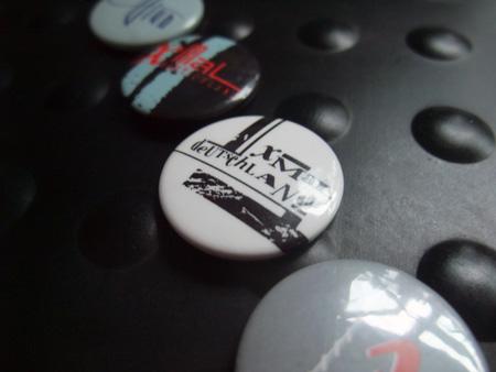 Xmal Deutschland badge design - first 4AD era logo design