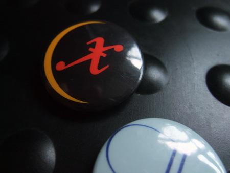Xmal Deutschland badge design - 'Sickle Moon' era