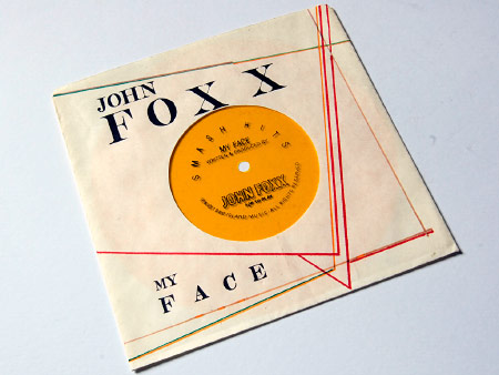 John Foxxx 'My Face' flexidisc housed in home-made sleeve