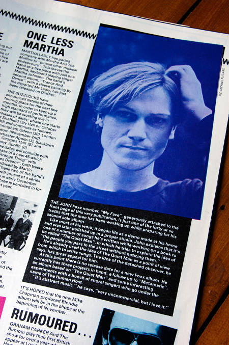 Smash Hits 2-15 October 1980 - John Foxx flexi article