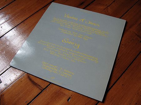Japan 'Visions of China' 12 inch single - rear sleeve