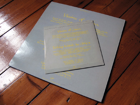 Japan 'Visions of China' 7 and 12 inch singles - rear sleeves