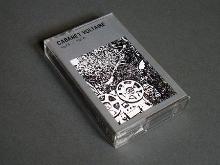 Cabaret Voltaire '1974-1976' cassette, front cover design
