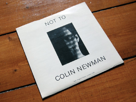 Colin Newman 'We Means We Starts' UK 7 inch single back cover