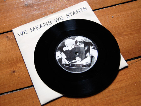 Colin Newman 'We Means We Starts' label A side