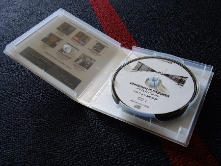 Peter Hook 'Unknown Pleasures' audio book discs design