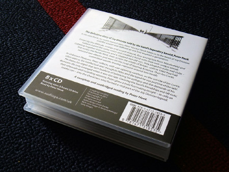 Peter Hook 'Unknown Pleasures' audio book rear cover design