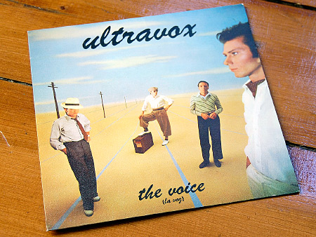 Ultravox, 'The Voice' ('La Voz') Spanish 7 inch single front cover design