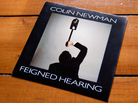 Colin Newman 'Feigned Hearing' 7 inch single front cover design