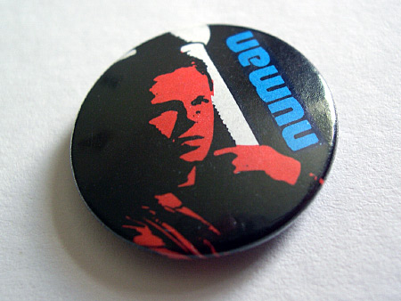 Gary Numan button badge design