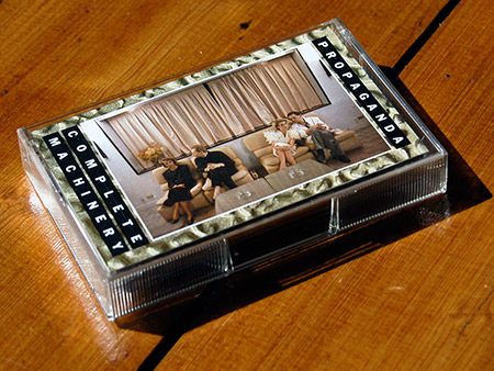 Propaganda 'Complete Machinery' cassingle, front case design