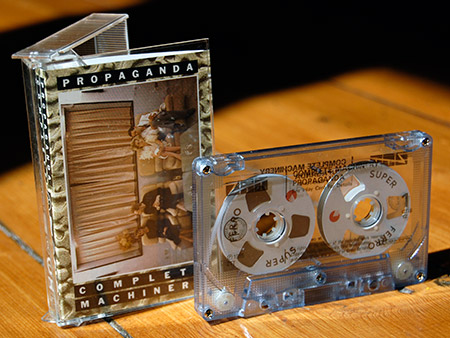 Propaganda 'Complete Machinery' cassingle, case and cassette