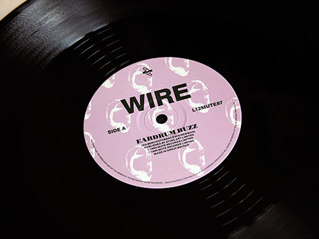 Wire 'Buzz Buzz Buzz (Live Live Live) limited edition 12 inch single side A label  design