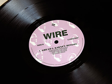 Wire 'Buzz Buzz Buzz (Live Live Live) limited edition 12 inch single side B label  design