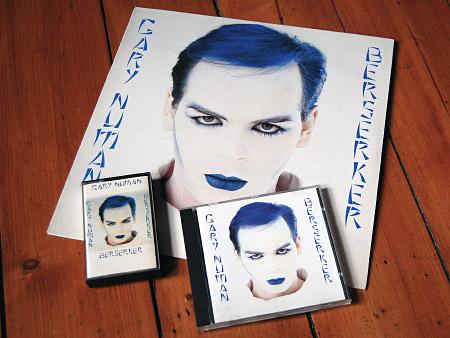 Gary Numan - Berserker - Numa editions vinyl LP, cassette and (re-issue) CD - front cover designs